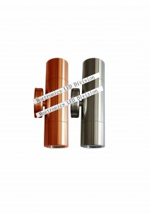 Up Down Light Stainless Steel or copper Tempered Glass choice of color and power output